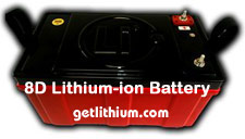 8D lithium ion deep cycle battery