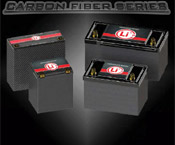Lithionics Carbon Fiber Series high performance lithium-ion batteries for Cars, Trucks, Marine,  Auto Racing, Powerboat Racing and more. Click here to vist the Carbon Fiber Battery Series page...