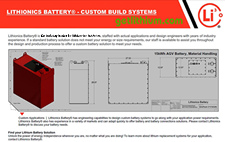 Lithionics Battery lithium-ion battery Custom Battery Builds
