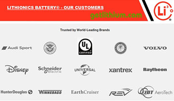 Some of Lithionics Battery's lithium-ion battery customers