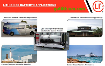 Some of Lithionics Battery's lithium-ion battery Applications