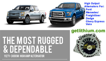 Click here for a larger image of the Nations Alternator high output alternators.