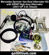 Nations high output alternator for Mercedes Sprinter vans - click for larger image