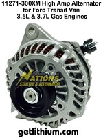 Nations high output alternator for Ford Transit vans - click for larger image