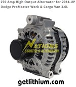 Nations high output alternator for Dodge vans - click for larger image