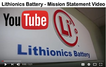 Click here to see the Lithionics Battery Mission Statement Video on YouTube