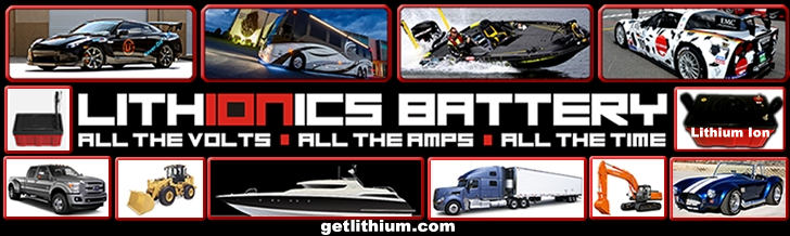 Lithium ion batteries for cars, trucks, motorcycles, snowmobiles, jetskis, buses, medical wheelchairs and more