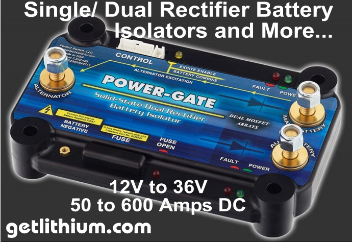 Perfect Switch Power-Gate single and dual rectifier solid state battery isolators