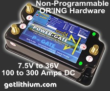 Click here for details of the Power-Gate Non-Programmable OR'ing battery diodes