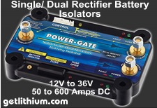 Click here for details of the Power-Gate dual rectifier battery isolator