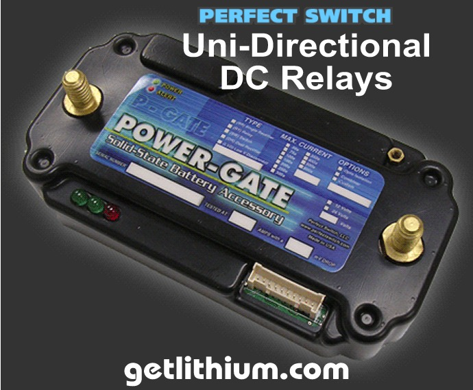 Perfect Switch Power-Gate solid state Uni-Directional DC Relays
