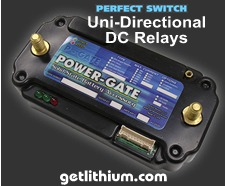 Perfect Switch Power-Gate solid state Uni-Directional Relays