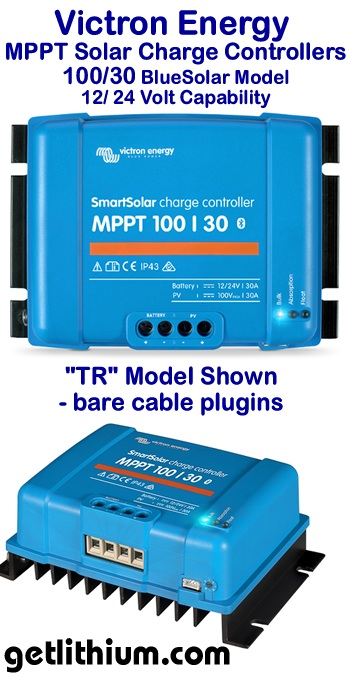 Click on the image for a larger Victron MPPT solar controller image