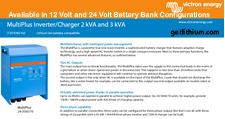 Victron MultiPlus 3kW inverter-charger spec sheet
