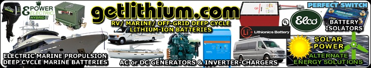 Get Lithium.com offers all the Lithionics Battery deep cycle, house power and engine starting lithium-ion batteries for cars, trucks, sailboats, yachts, car racing, RV buses and campers, Marine, backup or emergency power, solar power generation and much more.