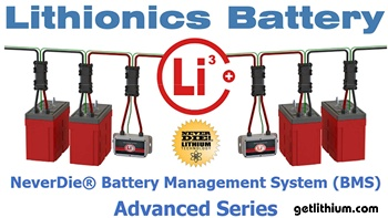 "New Version 8 Lithionics ""NeverDie"" Battery Management System for lithium-ion batteries."