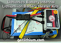 Click on the lithium-ion battery heater system pic for a larger image