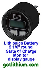 Click here for a larger image of the Lithionics State of Charge display gauge