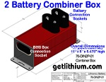 "Click on the image for a larger image of the Lithionics ""2 Lithium-ion Battery Combiner Box"""