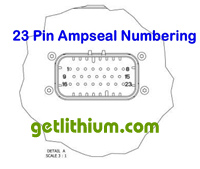 Click for a larger 23 pin Ampseal Numbering Legend spec sheet