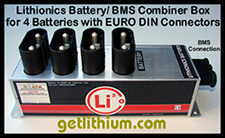 Click here for a larger image of the Lithionics BMS and lithium-ion battery combiner box