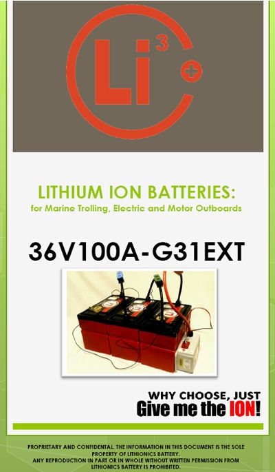 Lithionics Lithium ion Batteries are far superior to lead-acid batteries