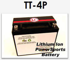 Lithium-ion powersports replacement battery