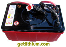 Lithium ion deep cycle and engine starting battery: GT 24 Volts with 300 Amp hours capacity