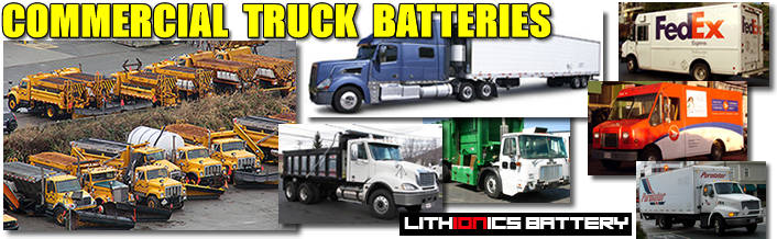 Lithium ion batteries for commercial trucks, transit buses and heavy duty machinery and equipment