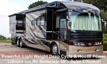 Click here for RV Lithium-ion Deep Cycle House and Engine Start Batteries...