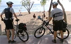 Lithium ion batteries for mobile Police bicycle patrols