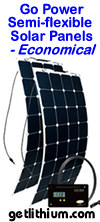 Go Power semi-flexible solar panels - economical solar panels