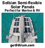 Solbian, SunPower and GoPower semi-flexible solar panels