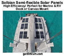 Solbian semi-flexible solar panels for sailboats, yachts and RV