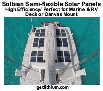 Solbian semi-flexible high output solar panels