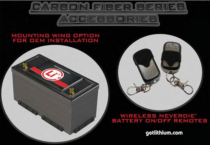GT Carbon fiber high performance 12 volt lithium-ion battery accessories