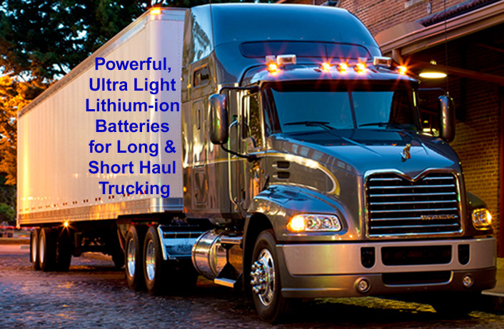 Semi tractor trailer trucks also benefit from our batteries - click here for details...