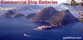 Lithium-ion marine batteries for yachts, sailboats, commercial ships and more. Photo: Rio de Janeiro, Brazil