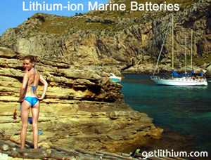 deep cycle lithium-ion batteries for yachts, sailboats, luxury RV,  5th Wheel RV, Class A, B, C Rv and Travel Trailers