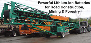 Large capacity mobile gravel conveyor systems  for heavy duty earth moving will always start with our lithium ion batteries