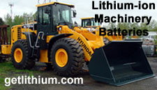 Click here for details on our lithium ion batteries for Heavy Duty diesel Machinery and Equipment