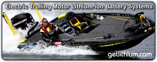 Lithium-ion batteries for fishing and electric motor trolling
