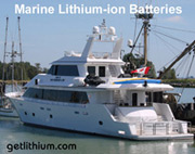 Luxury yacht lithium-ion deep cycle and diesel engine starting batterie