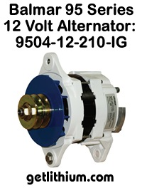 Balmar 12 Volt 210 Amp alternator kit