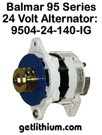 Balmar 24 Volt 140 Amp alternator kit