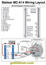 Balmar MC-614 voltage regulator wiring layout