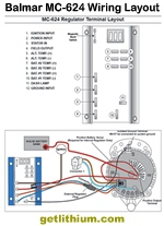 Balmar MC-624 voltage regulator wiring layout