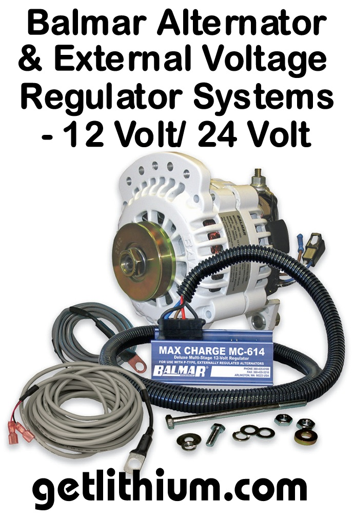 Balmar heavy duty 12 and 24 Volt marine alternator generator systems