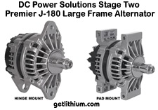 DC Power Solutions high output alternator for marine engines - click for larger image