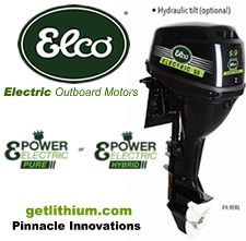 Click here for the Elco 9.9 horsepower electric outboard motor...